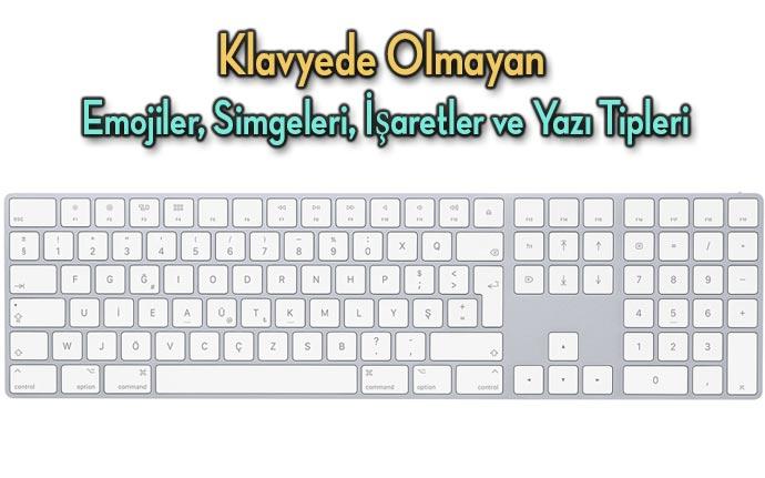 Klavyede-Olmayan-simgeler